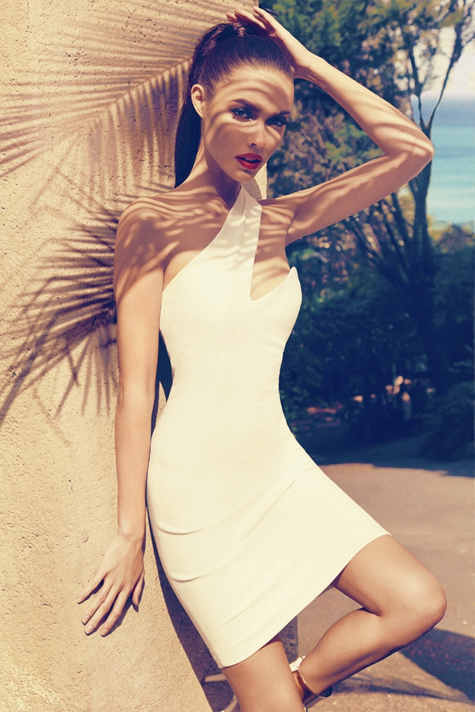 COSTA BLANCA WHITE ONE SHOULDER DRESS
