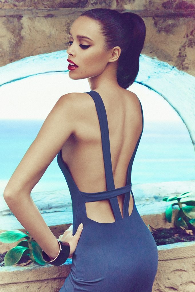 MENARCO BLUE OPEN BACK DRESS